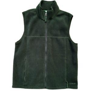 L.L. Bean Mens Small Green Zip Up Fleece Vest